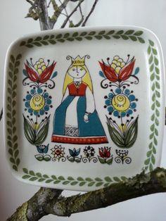 Vintage Figgjo Flint Turi Saga Norway 4x4 Ceramic by fcollectables, €12.50