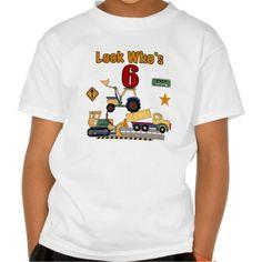 Construction Vehicles 6th Birthday Tee T Shirt, Hoodie Sweatshirt
