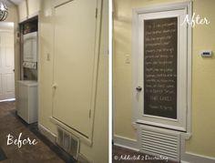 hvac closet door before and after
