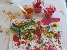 Drip-drop nature painting in preschool | Teach Preschool