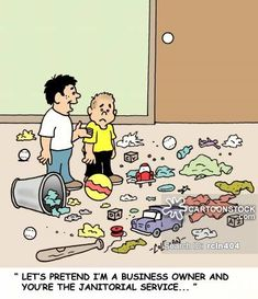 Cleaning Up Cartoons and Comics - funny pictures from CartoonStock