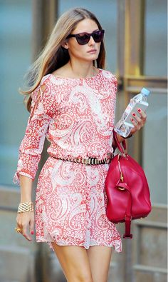 Olivia Palermo's perfect red summer dress!