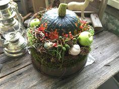 Kürbisfreundschaft - Tischkranz von FRIJDA im Garten - Aus einer Idee wurde Leidenschaft auf DaWanda.com