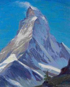 Swiss Painter from Zermatt - Emil Aufdenblatten, Zermatt, Mountain Art, Mountain Landscape, Ski Posters, Vintage Ski, Bergen, Switzerland, Skiing, National Parks