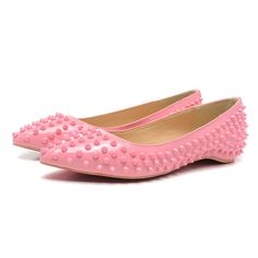2e756697258f red sole shoes Pigalle Spikes flats pink. dos de oros · favoritos · Christian  Louboutin ...