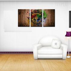 Hogwarts School Logo - 3 Piece Canvas Painting  #prints #printable #painting #canvas #empireprints #teepeat
