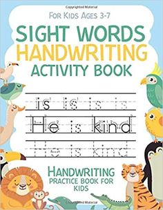 Sight Words Handwriting Activity Book Handwriting Practice Book for Kids for kids ages 3-7: Workbook 8, 5x11 inches: Publishing, Carrizales: 9798664259070: Amazon.com: Books Handwriting Activities, Handwriting Practice, Spanish Activities, Book Activities, Cute Journals, Spanish Words, Kindle App, Sight Words, Machine Learning