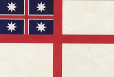 New Zealand's first official flag was this one, the flag of the United Tribes. It was selected on 20 March 1834 by 25 chiefs from the far north who, with their followers, had gathered at Waitangi in the Bay of Islands. A number of missionaries, settlers and the commanders of ten British and three American ships were also present. The official British Resident, James Busby, spoke to those gathered and then asked each chief to come forward in turn and select a flag.