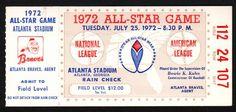 Up4Auction - 1972 MLB All-Star Game Ticket Stub - Atlanta Stadium, Tuesday July 25, 1972
