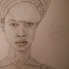 *zoom zoom*  #Instaart #drawing #pencil #sketchbook #illustration #portrait #ErykahBadu #A3 #youngblackartists #blackart