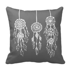 charcoal dream catcher drawing | ... pen and ink drawing of three hipster bohemian dreamcatchers click