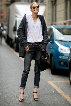 Streetstyle à Milan Mannequin off duty