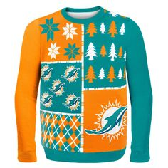 NFL Busy Block Ugly Sweater – Miami Dolphins