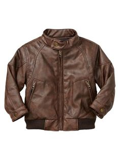 Baby Gap Bomber Jacket in Dark Brown