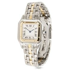 49893576a2b Cartier Panthere Swiss Quartz 18K Yellow Gold Steel Ladies Watch W25027B5  (Certified Pre-