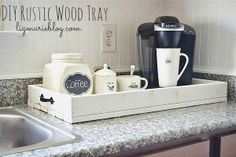DIY Rustic wood tray - full tutorial & it can be used anywhere in your home!
