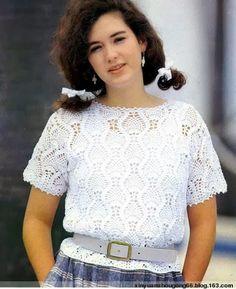 Blusas crochet con esquemas | Patrones Crochet, Manualidades y Reciclado