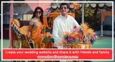 Create your wedding website and share it with friends and family