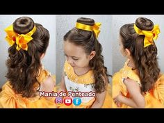 Beauty And Beast Birthday, Beauty And The Beast Theme, Beauty And Beast Wedding, Beauty And The Best, Disney Hairstyles, Princess Hairstyles, Little Girl Hairstyles, Princess Belle Hair, Belle Disney