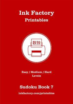 FREE Sudoku - printable sudoku puzzles #free #sudoku  http://www.inkfactory.com/printables/sudoku-puzzle-book-seven/