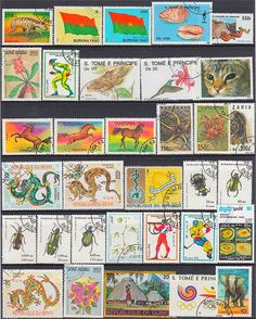 500PCS Lot Good Condition Postage Stamps Collections From Many Countries With Post Mark Stamps Postal Used For Collection