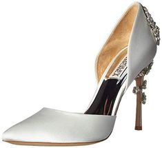 Badgley Mischka Womens Vogue Pump Soft White Satin 75 M US *** You can get more details by clicking on the image. (This is an affiliate link)