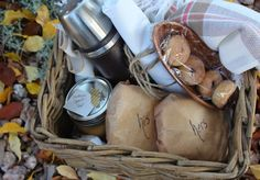 fall picnic in a basket