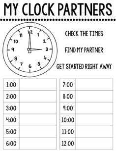 clock partners freebie