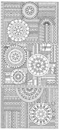 Miriam Badyrka is The Doodler: animals & people - My DIY Tips Zentangle Drawings, Doodles Zentangles, Doodle Drawings, Doodle Art, Pattern Coloring Pages, Coloring Book Pages, Printable Coloring Pages, Tangle Doodle, Tangle Art