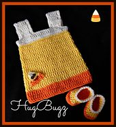 """Ravelry: B's """"Candy Corn"""" Baby Dress pattern by Crafting ForChrist Designs"""