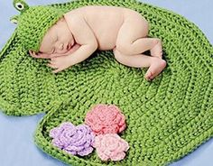 Newborn Frog Green Crochet Handmade Crochet Knitted Unisex Baby Cap http://amzn.to/1Yr8VZU