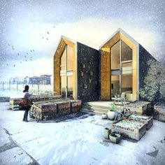 An affordable, modern prefab rental that's perfect for young professionals and single households and can be delivered and set up in just one day. ONE