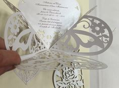 Invito Matrimonio pop-up Elegance, laser cut wedding invitation