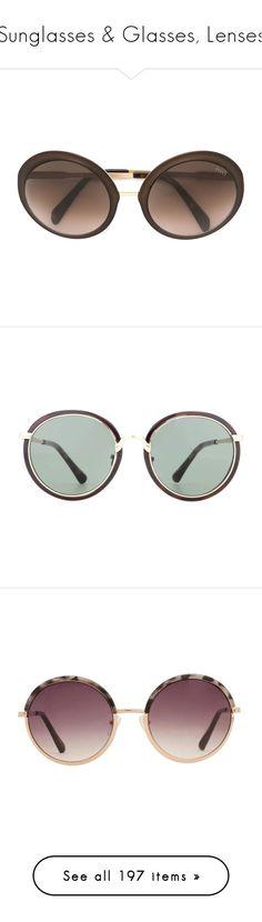 """Sunglasses & Glasses, Lenses"" by lorika-borika on Polyvore featuring accessories, eyewear, sunglasses, black, round sunglasses, round frame glasses, emilio pucci glasses, matte sunglasses, emilio pucci и dries van noten"