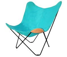 Cuero lounge chair. Butterfly Canvas. Design Lounge.