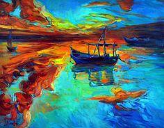 Sunset Over Ocean Painting  - Ivailo Nikolov