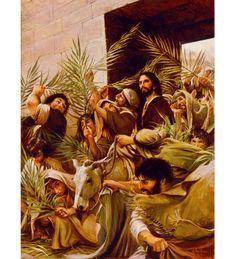 Bible Pictures, Jesus Pictures, Religious Pictures, Lds Art, Bible Art, Triumphal Entry, Christian Artwork, Biblical Art, Jesus Art