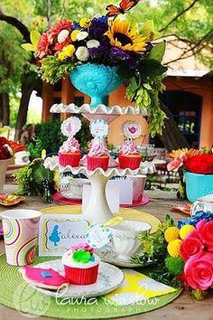 colorful centerpieces & wedding decor