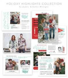Holiday Highlights Card Templates by Jamie Schultz Designs