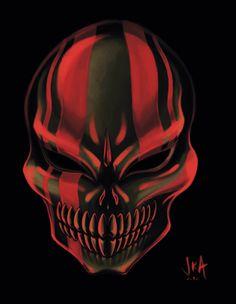 My take on the Oni Mask. Legend of Zelda: Majora's Mask Changed the color to red, thanks to for the suggestion Oni Fierce Deity Mask Oni Demon, Oni Mask, Japanese Tattoo Art, Samurai Warrior, Mask Design, Deities, Masquerade, Loki, Anime Guys