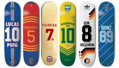 adidas Skate Copa decks, inspired by the #WorldCup. #adidasSkateCopa