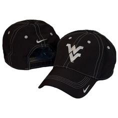 WVU Nike Golf Contrast Stitch Cap in Black