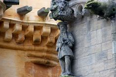 James V of Scotland adorning the eastern corner of the Royal Palace at Stirling Castle