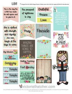 FREE LDS Planner Printable by Victoria Thatcher