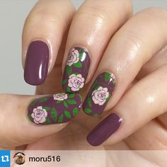 UberChic Beauty Nail Stamps - love this nail art for spring or summer! @moru516 with @repostapp.