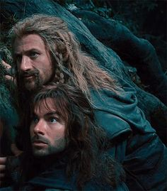 Typical Fili and Kili faces XD Look Belle, it's us!