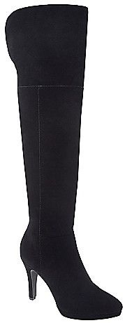 96f286bbb9e wide calf suede over-the-knee boot