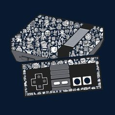 """NEStolgia"" by TheHookShot is $10 today at ShirtPunch.com (09/09). #tshirt #NES #Nintendo #VideoGames #Gaming"
