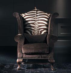 Sillón Montgomery Piel de Zebra en Portobellodeluxe.com. Tu tienda de muebles de lujo