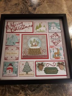 (notitle) - Stampin Up - Christmas Paper Crafts, Stampin Up Christmas, Christmas Projects, Handmade Christmas, Christmas Ideas, Christmas Shadow Boxes, Frame Crafts, Diy Crafts, Stampin Up Cards